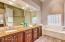 Master bathroom (granite counters, recessed lighting, separate garden tub & shower)
