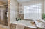 Separate soaking tub and walk in shower!