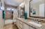 Upstairs Hall Bath with double sinks!