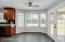 Casual Dining / Breakfast nook with glass doors to covered patio