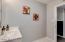 Additional view of hall bathroom.