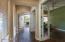 Front door Entry Hallway and Den