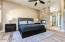 Master Bedroom with two-way gas fireplace to master bathtub