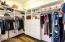 Plenty of space and built-in closet organizer