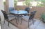 Relaxing patio off of Living room with storage closet