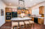 Quality knotty alder cabinetry throughout the home