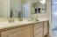 Double sinks in full upstairs bathroom!