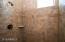 shower w/custom tile surround