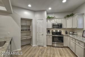 With all stainless steel appliances