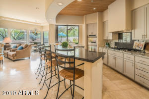 Updated open kitchen, family room and eat-in dining area