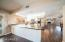 Open floor plan with in-kitchen dining together