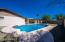 Pool with raised deck. Sand filter.