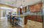 Gourmet kitchen with gas cooktop and wall oven