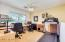 Open loft/office/playroom with magical views