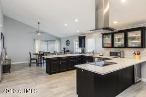 Open Concept Kitchen with Vaulted Ceiling. Great for entertaining!