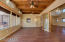 Den/Office/Exercise Room with wooden beams and ceiling