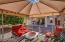 Enjoy entertaining outdoors with the gazebo and the built-in barbecue.