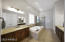 Dual sinks, Separate bathtub and shower ,