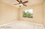 Upstairs 3rd bedroom with adjoining bath - check out the ceiling fan!