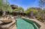 Inviting and private backyard