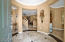 Charming Entryway with Travertine Detail