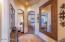 Upstairs hallways accessing three edrooms