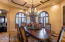 Formal Dining Room with courtyard views