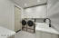 Laundry Room w Built in Cabinets, Sink, Champaine Bronze Washer & Dryer