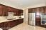 SPECTACULAR SPACIOUS STAINLESS & SLAB GRANITE KITCHEN w/ SOLID MAPLE W/ CHERRY STAIN CABINETS