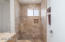 TRAVERTINE SHOWER IN MASTER BATHROOM #2--HAS IT'S OWN EXIT DOOR TO THE BACKYARD!