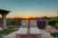 Elevated Flagstone area for viewing sunsets