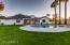 Backyard- large irrigated lot with grass and sprinklers, pool, 3 RV gates, covered patio with pavers