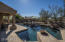 Large pool with water features