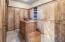 Master walk-in closet with additional cedar closet