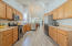 Ample kitchen cupboards and countertops