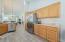 Step-saving kitchen layout