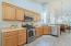 Kitchen boasts newer stainless appliances