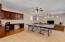 Huge loft with built-in desk.