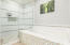 tub and large walk-in shower
