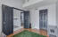 French Doors lead into 2nd Bedroom.