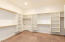 There are two master closets. This is the largest of the two