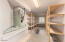 Large storage room with washer and dryer hookups in basement!