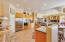 """All kitchen counters are custom 39"""" height, granite tiled counters, updated appliances"""