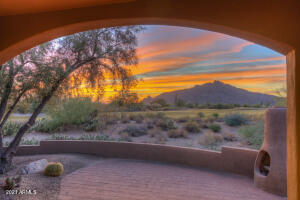 View from the back covered patio, towards Black Mountain. Every day is like being on vacation, in the world renown Boulders Resort & Spa Golf Club and Community.