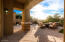 Covered Patio with misters, gas hook up, fountain and golf course views