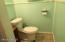 1/4 bath in basement