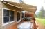 Deck with awning extended