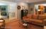 Looking toward living room French doors and kitchen/breakfast area
