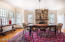 ELEGANT DINING ROOM FACES WEST FOR SUNSET DINNERS