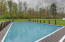 Pool heated by solar decking panels surrounding the pool.